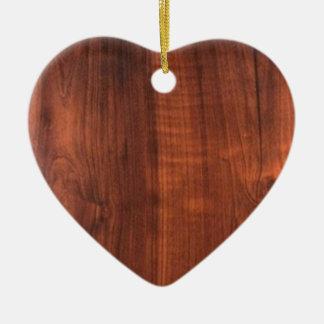 Ornement Cœur En Céramique Sembler du bois Blanc en céramique Blanche de NOIX