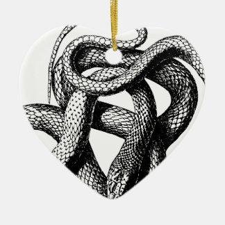 Ornement Cœur En Céramique Serpent tordu
