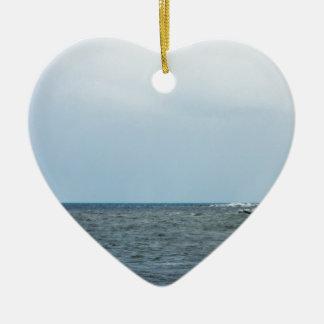 Ornement Cœur En Céramique Shoreline