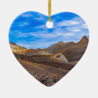 Ornement Cœur En Céramique Sierra paysage de Negra, Galapagos, Equateur