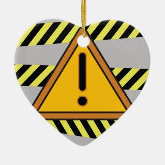 Ornement Cœur En Céramique signe de danger