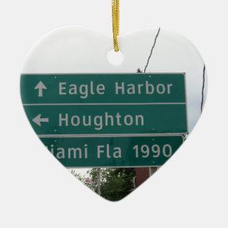 Ornement Cœur En Céramique Signe de Miami