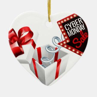 Ornement Cœur En Céramique Signe de vente de sommier à ressorts de lundi de