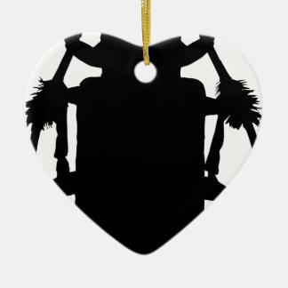 Ornement Cœur En Céramique Silhouette de scarabée