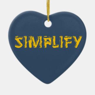 Ornement Cœur En Céramique Simplifiez