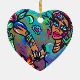 Ornement Cœur En Céramique Sirène de Brown
