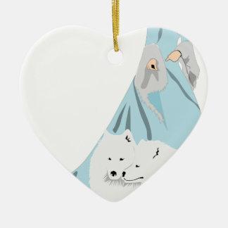 Ornement Cœur En Céramique snowqueen