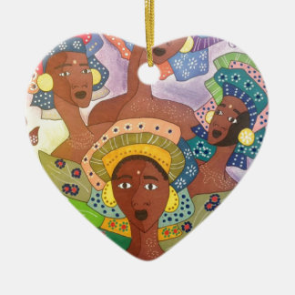 Ornement Cœur En Céramique soeurs