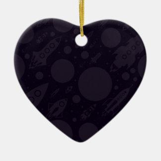 Ornement Cœur En Céramique Soufflez dans une nouvelle année