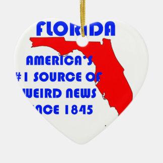 Ornement Cœur En Céramique Source de la Floride #1 pour de nouvelles étranges