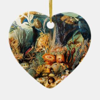 Ornement Cœur En Céramique Sous-marin