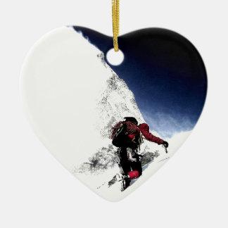 Ornement Cœur En Céramique Sports d'extrémité de grimpeur de montagne
