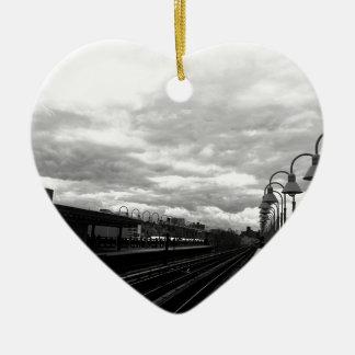 Ornement Cœur En Céramique Station de train