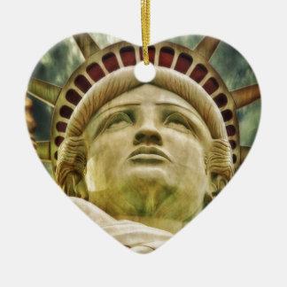 Ornement Cœur En Céramique Statue de la liberté