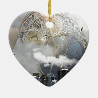 Ornement Cœur En Céramique Steampunk