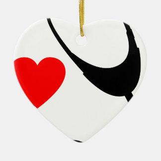 Ornement Cœur En Céramique Stéthoscope de coeur