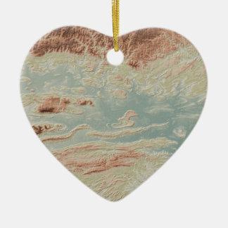 Ornement Cœur En Céramique Style de classique de vallée de la rivière