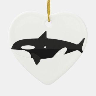 Ornement Cœur En Céramique Style de primitif de baleine d'orque