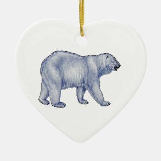 Ornement Cœur En Céramique Survivant arctique