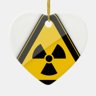 Ornement Cœur En Céramique T-shirt Radiation_Hazard_Warning_
