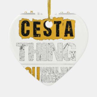 Ornement Cœur En Céramique T-shirts de Cesta