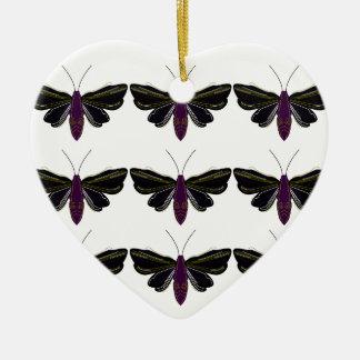Ornement Cœur En Céramique T-shirts noirs de mouches à beurre