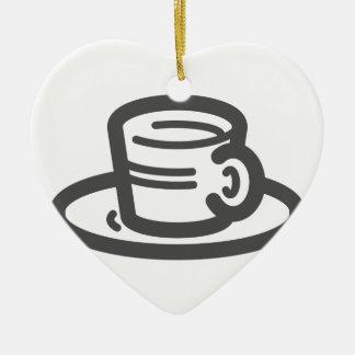 Ornement Cœur En Céramique Tasse de café