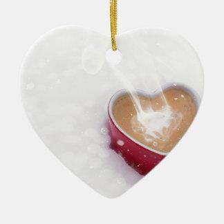 Ornement Cœur En Céramique Tasse de coeur de café d'amour de Valentine de