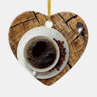 Ornement Cœur En Céramique Tasse de coffeemania de café