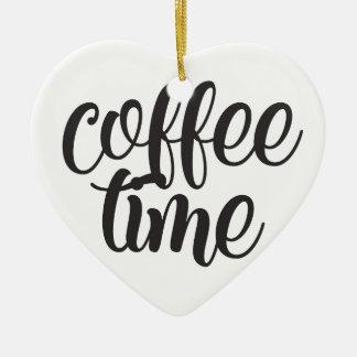 Ornement Cœur En Céramique Temps de café