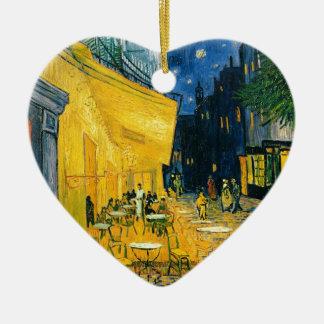 Ornement Cœur En Céramique Terrasse de café de Vincent van Gogh |, Place du