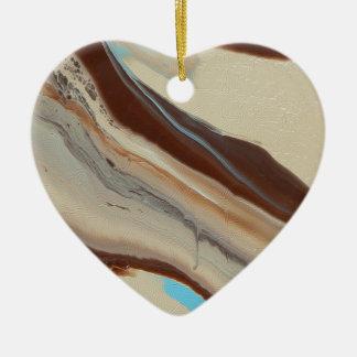 Ornement Cœur En Céramique Terre # 2