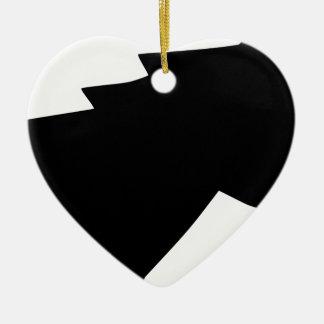 Ornement Cœur En Céramique Tête de cheval en vent
