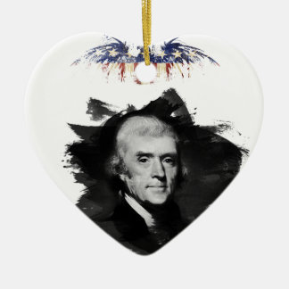 Ornement Cœur En Céramique Thomas Jefferson