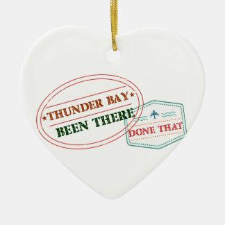 Ornement Cœur En Céramique Thunder Bay là fait cela