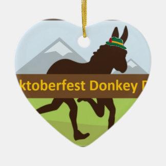 Ornement Cœur En Céramique Tiret d'âne de Donktoberfest