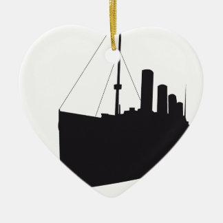 Ornement Cœur En Céramique titanic ombre