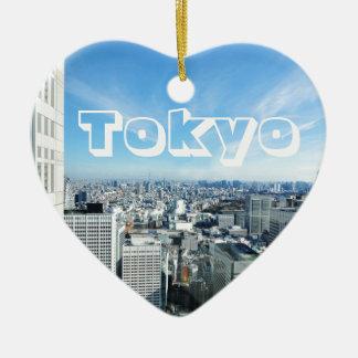 Ornement Cœur En Céramique Tokyo, Japon