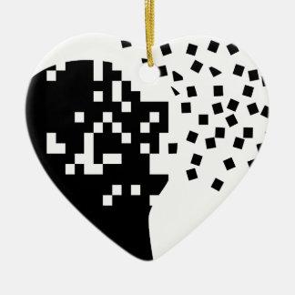 Ornement Cœur En Céramique Tomber en morceaux