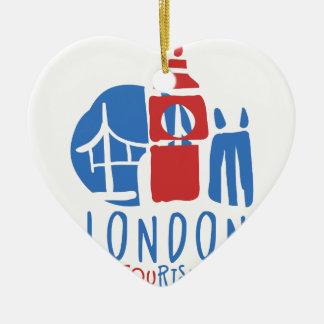 Ornement Cœur En Céramique Tourisme de Londres