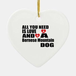 Ornement Cœur En Céramique Tous vous avez besoin de la conception de chiens