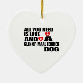 Ornement Cœur En Céramique Tous vous avez besoin de la GORGE d'amour des