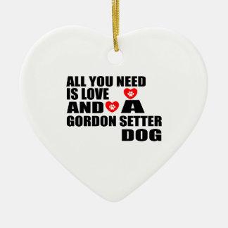 Ornement Cœur En Céramique Tous vous avez besoin des conceptions de chiens de