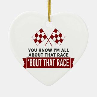 Ornement Cœur En Céramique Tout au sujet de ce circuit de voitures de course