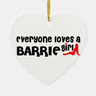 Ornement Cœur En Céramique Tout le monde aime une fille de Barrie
