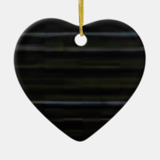 Ornement Cœur En Céramique traits horizontaux en bois