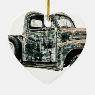 Ornement Cœur En Céramique Transport de véhicule des Etats-Unis d'Oldtimer de
