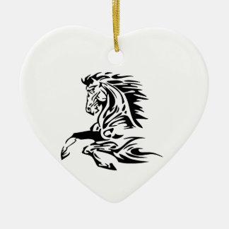 Ornement Cœur En Céramique Tribal Horse