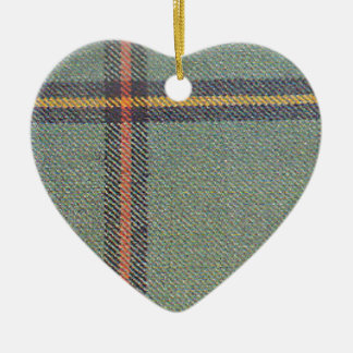 Ornement Cœur En Céramique Tribu de mars/de tartan antique de Marr