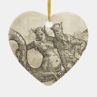 Ornement Cœur En Céramique Tritons